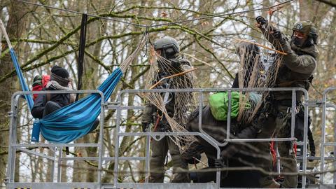 Polizeieinsatz im Dannenröder Forst