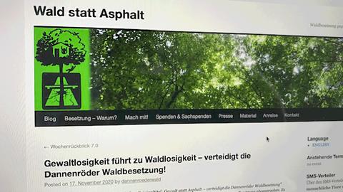 """Screenshot von der Internetseite """"Wald statt Asphalt"""", auf der Aktivisten angeheuert werden."""