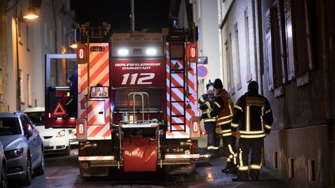Feuerwehreinsatz in Darmstadt