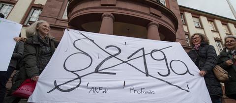 Demo vor dem Gießener Amtsgericht
