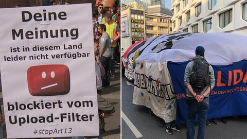 In Frankfurt wurde fleißig demonstriert.