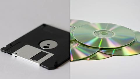 Diskette und CDs