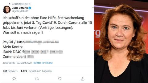 Hilfsnachricht von Jutta Ditfurth