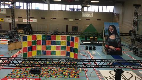 Domino Weltrekordversuch in Nidda