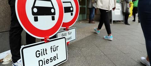 Diesel-Verbotsschild