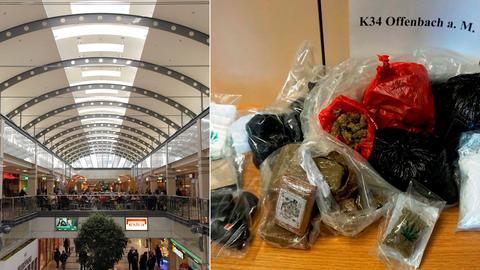 Gefundene Drogen im Isenburg-Zentrum