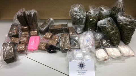 Im Kreis Kassel beschlagnahmte Drogen