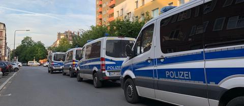 Polizeieinsatz in Frankfurt