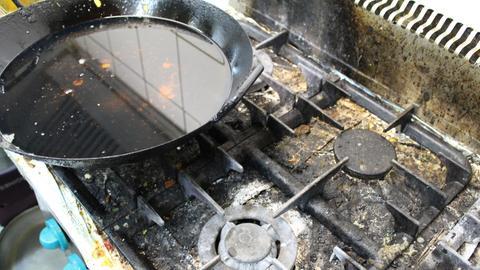 Verschmutzte Küche in einem der beanstandeten Lokale
