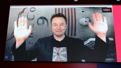 Tesla- und SpaceX-Gründer Elon Musk bei einer Videokonferenz im September in Russland.