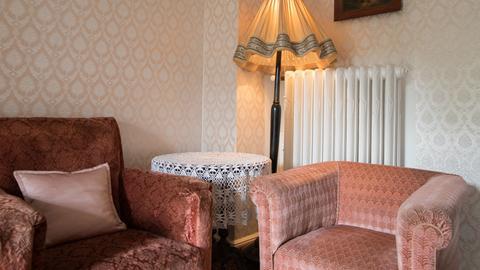 Blick in das Elvis-Zimmer in Bad Nauheim