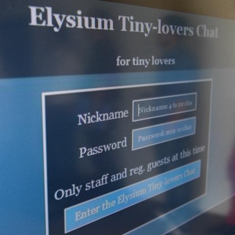 """Screenshot einer Login-Seite der Kinderpornografie-Plattform """"Elysium"""""""