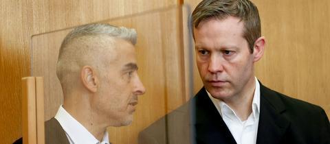 Stephan Ernst (re.) am Mittwoch im Gerichtssaal mit seinem Anwalt Mustafa Kaplan