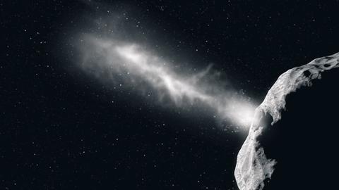 Sonde schlag auf Asteroid ein.
