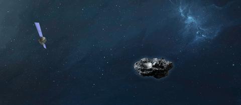 ESA-Sonde Hera umkreist den Asteroiden Dimorphos