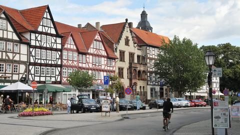 Fachwerkhäuser in der Innenstadt von Eschwege