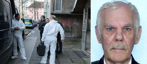 Bildkombo Ermittlungen am Tatort, Fahndungsbild