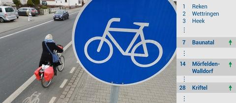 Mörfelden-Walldorf gehört zu den fahrradfreundlichsten Kommunen.