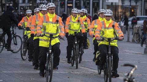 Fahrradstaffel der Polizei