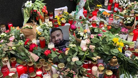 Improvisierte Gedenkstätte für Fatih Saracoglu