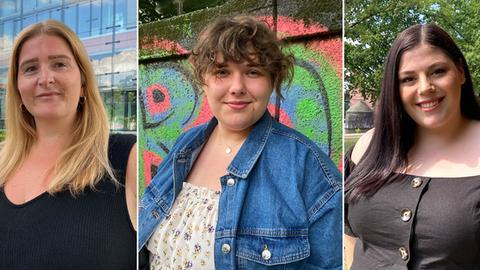 Vivien D., Caro Smyhla, Selin Doganci (von links): drei Frauen, die von Fat Shaming betroffen sind