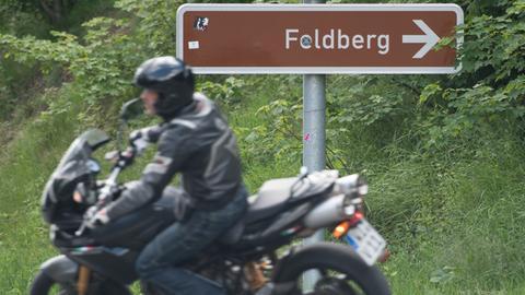 Feldberg Motorradfahrer