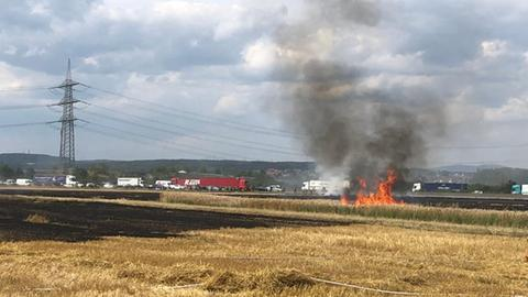 Feldbrand bei Flörsheim