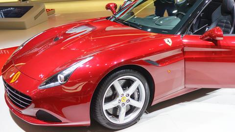 Ferrari California Model T bei einer Präsentation