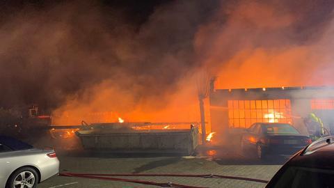 Dieses Foto machte die Feuerwehr aus nächster Nähe.