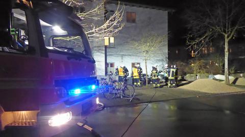Die Feuerwehr im Einsatz in Kassel.