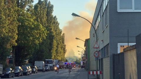 Brand im Frankfurter Ostend