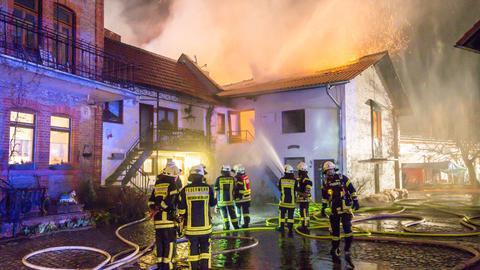Feuerwehr im Einsatz in Hofheim