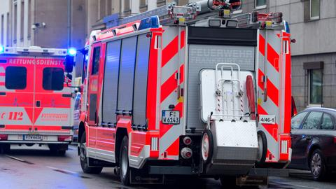Feuerwehrauto in Frankfurt