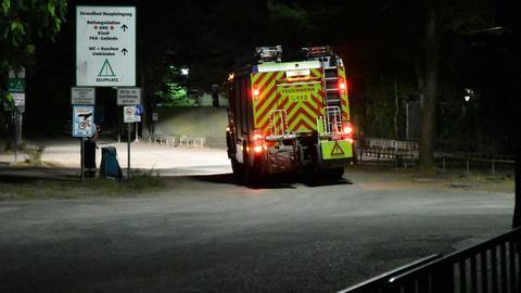 Feuerwehrauto am Langener Waldsee