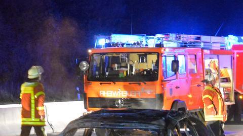 Feuerwehr im nächtlichen Einsatz