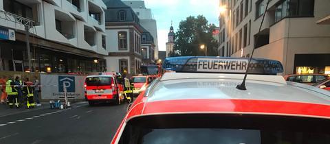 Einsatzfahrzeuge der Feuerwehr, Absperrung