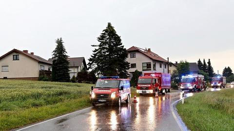 Feuerwehrautos in Flieden.