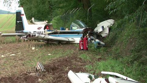 abgestürztes Flugzeug in Eschwege