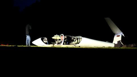 Bei Eschwege ist ein Segelflugzeug abgestürzt.