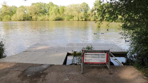 Unfallstelle in Frankfurt-Fechenheim