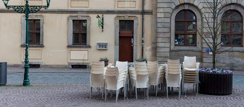 Die Innenstädte müssen nun weitestgehend leer sein. So wie hier in der Barockstadt Fulda.