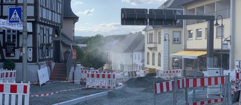 Beschädigte Gasleitung in Usingen