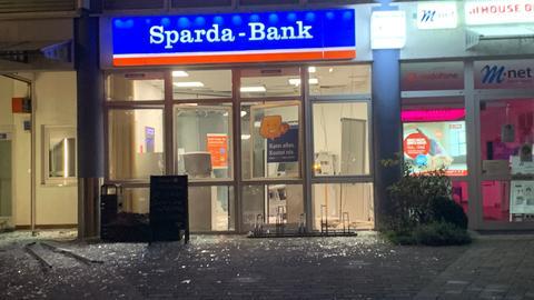 In Gründau-Lieblos wurde ein Geldautomat gesprengt.