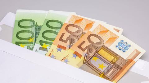 Geldscheine Umschlag