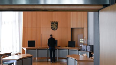 Blick in den Gerichtssaal in Alsfeld