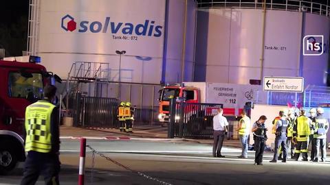 Feuerwehreinsatz nach Gefahrstoffaustritt in einem Gernsheimer Chemiewerk