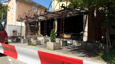 Shisha-Bar nach Brand