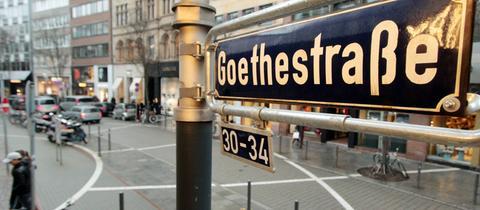 Blick in die Frankfurter Goethestraße