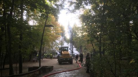 Goetheturm in Frankfurt ist abgebrannt