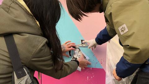 Graffitikünstler besprühen Stromkästen in Darmstadt